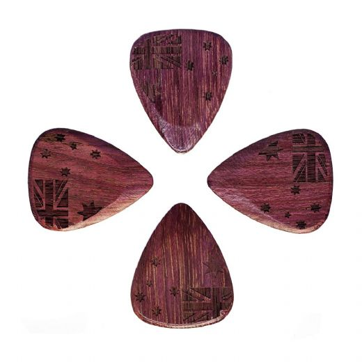 Flag Tones Southern Cross Purple Heart 4 Guitar Picks